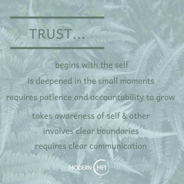 Deepening and Repairing Trust Involves This…