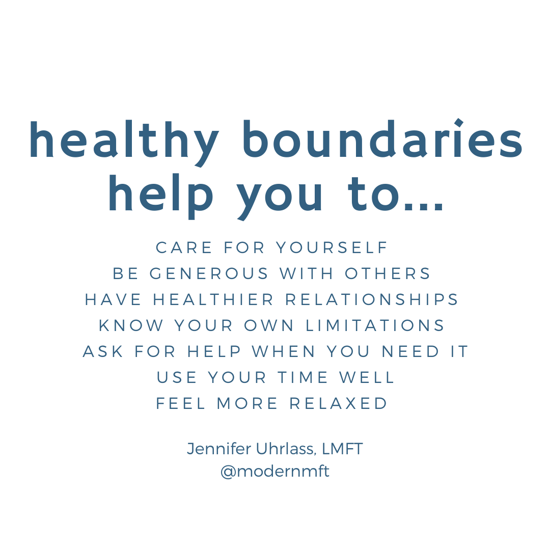Learning how to set healthy boundaries…